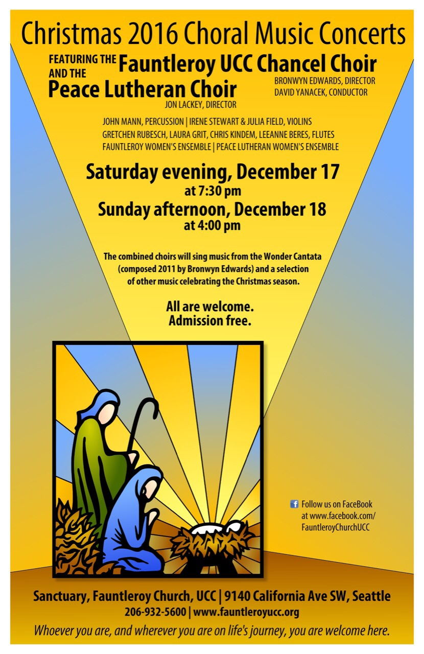 Fauntleroy Chancel Choir Christmas Concert Poster
