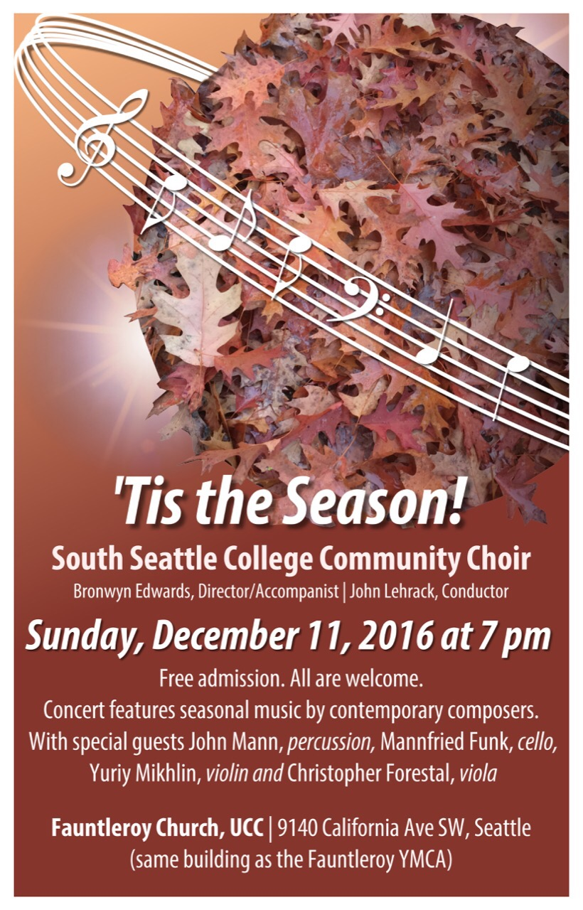South Seattle College Community Choir Concert Poster