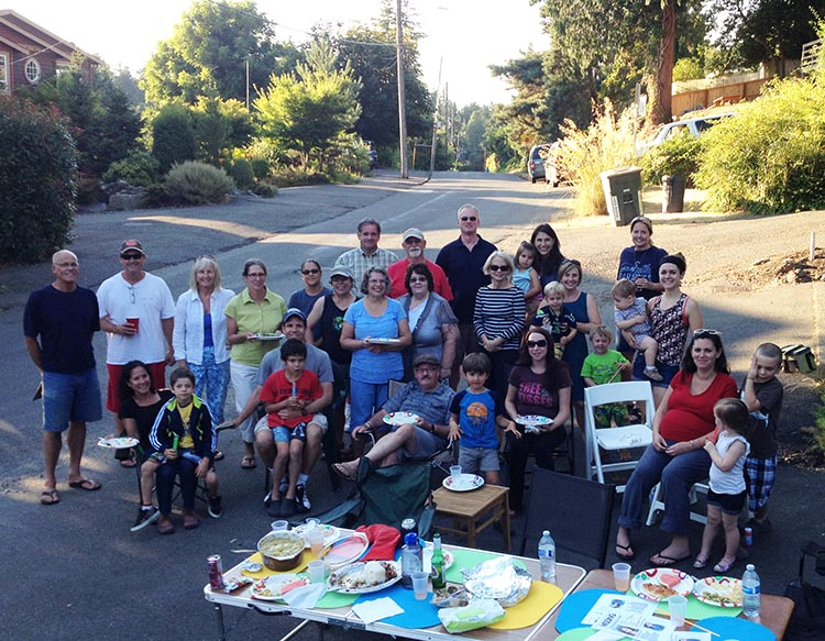 2014 Night Out block party on Fauntleroy Place SW in West Seattle